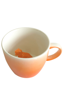 House of Disaster Orange Ombre Dinosaur Cup