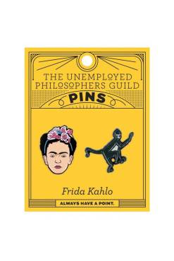 The Unemployed Philosophers Guild - Frida Kahlo and Monkey Enamel Pin Set