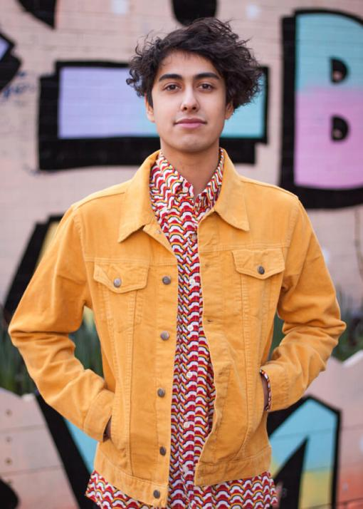 Run & Fly - Unisex Corduroy Western Jacket in Gold