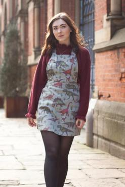 Run & Fly - Blue Dinosaur Pinafore