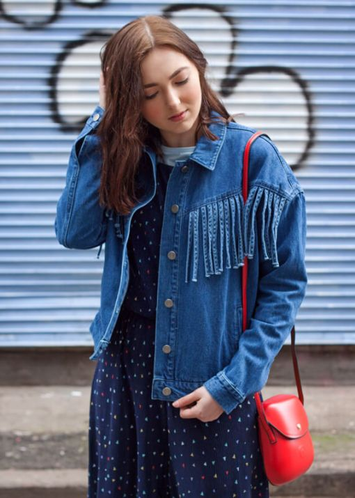 Noisy May - Denim Fringe Jacket