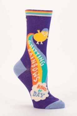 Blue Q - Shitting Rainbows Crew Socks