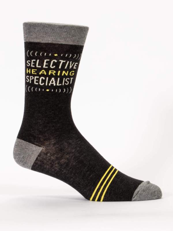 Blue Q - Selective Hearing Specialist Men's Crew Socks