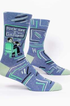 Blue Q - Fuck Off, I'm Gaming Men's Crew Socks