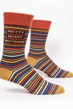 Blue Q - Pretty Decent Boyfriend Men's Crew Socks