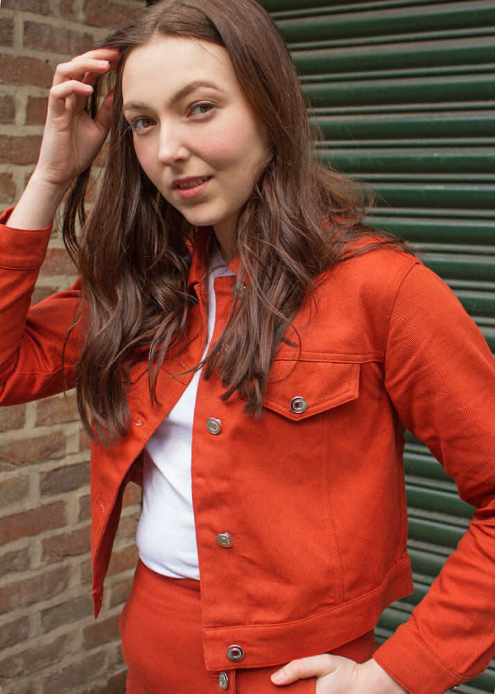 Love & Other Things - Rust Orange Jacket
