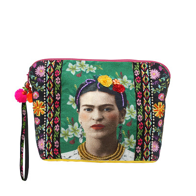 House of Disaster - Frida Kahlo Zip Pouch