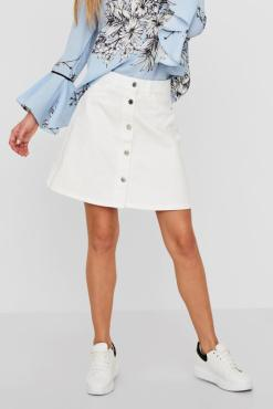 Noisy May - White Denim Skirt