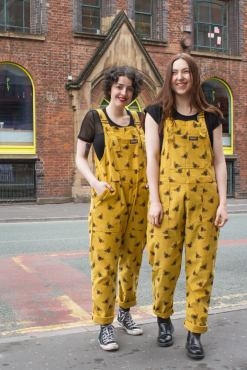 Run & Fly - Unisex Yellow Corduroy Bee Dungarees