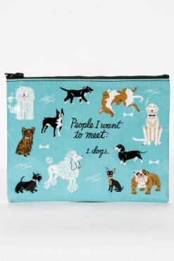 Blue Q - People I Want To Meet: Dogs Zipper Pouch
