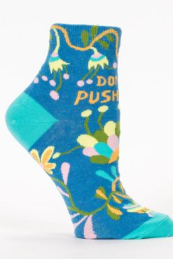 Blue Q - Don't Push Me Ankle Socks