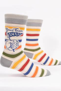 Blue Q - Your Team Sucks Men's Crew Socks