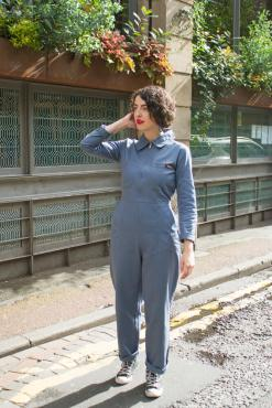 Run & Fly - Unisex Boiler Suit in Cobalt