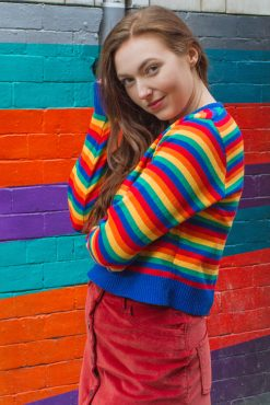 Run & Fly - Rainbow Bright Cropped Jumper