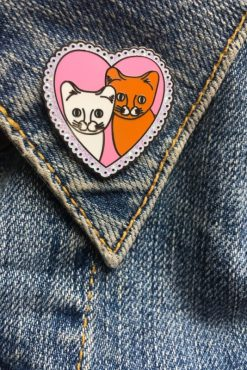 Rosie Wonders - Cat Love Pin in Pink