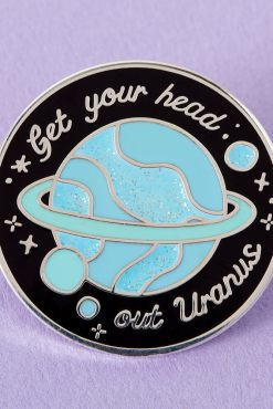 Punky Pins - Get Your Head Out Uranus Enamel Pin