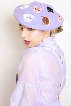 Elleni the Label - Lilac Cat Beret