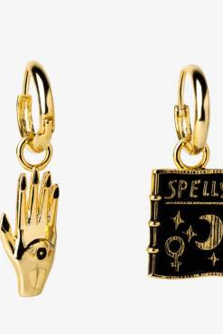 Yellow Owl Workshop - Mystic Spells Hoop Earrings