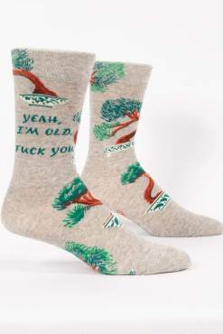 Blue Q - Yeah I'm Old Men's Crew Socks