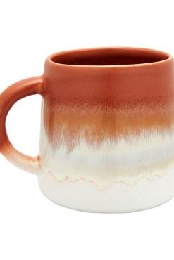 Sass & Belle - Dip Glaze Rust Brown Mug