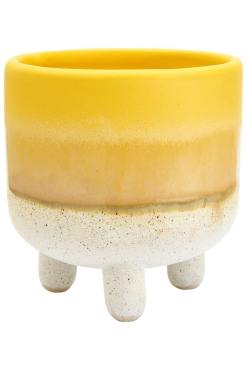 Sass & Belle - Dip Glaze Yellow Planter