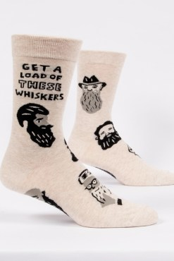 Blue Q - Whiskers Men's Crew Socks