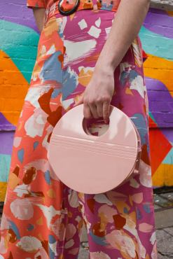 Thunder Egg - Pink Perspex Circle Bag