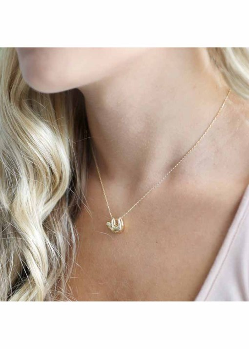 Lisa Angel - Gold Sloth Necklace