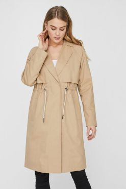 Noisy May - Be Green Beige Long Jacket