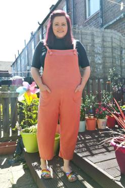 Thunder Egg - Vibrant Orange Jersey Dungarees