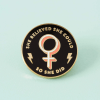 Punky Pins - She Believed She Could So She Did Enamel Pin