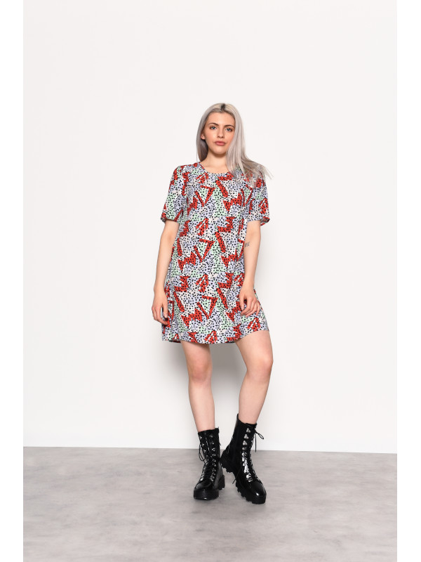 Glamorous - Geo Print T-Shirt Dress