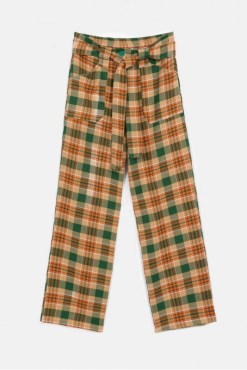 Compañia Fantastica - Brown and Green Checked Trousers