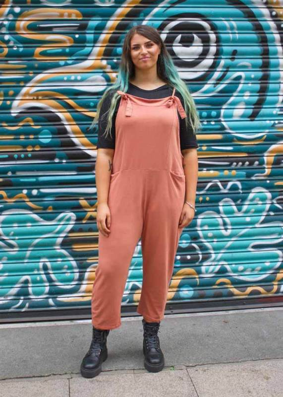 Thunder Egg - Peach Jersey Dungarees
