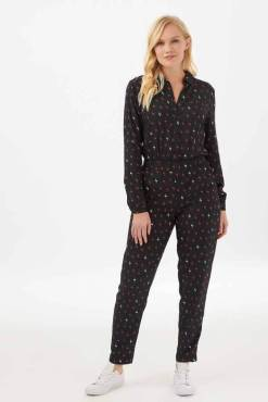 Sugarhill Brighton - Keiko Autumn Storm Lightning Bolt Jumpsuit