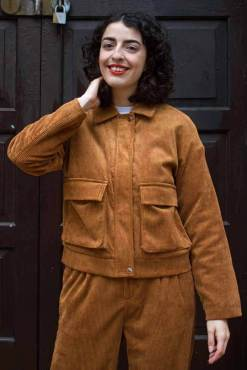 Daphnea - Brown Corduroy Jacket