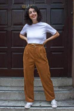 Daphnea - Brown Corduroy Trousers