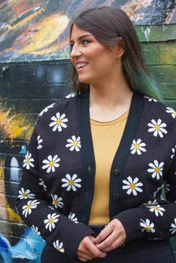 Run & Fly - Cropped Daisy Cardigan