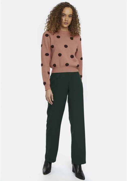 Compañia Fantastica - Pink and Black Spotty Jumper