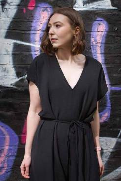 Thunder Egg - Black Slouch Jumpsuit