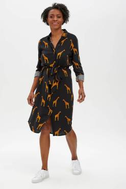 Sugarhill Brighton - Reva Giraffe Shirt Dress