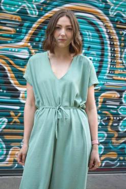 Thunder Egg - Sage Green Slouch Jumpsuit