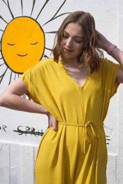 Thunder Egg - Mustard Yellow Slouch Jumpsuit