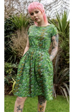 Run & Fly – Camo Dino Dress With Pockets