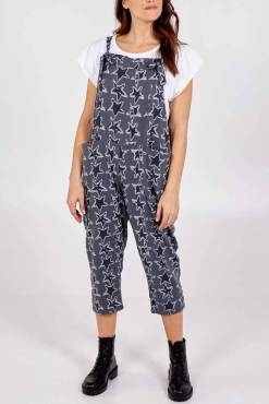 Thunder Egg - Grey Star Jersey Dungarees