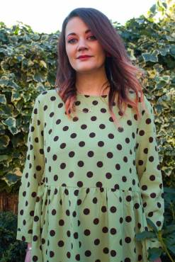 Glamorous - Green & Brown Polka Dot Midi Dress