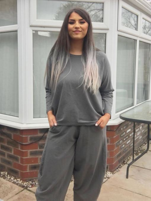 Thunder Egg - Grey Slouchy Sweater