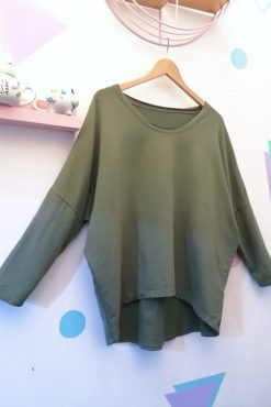 Thunder Egg - Khaki Slouchy Sweater