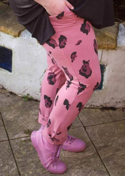 Thunder Egg - Pink Leopard Stretch Joggers