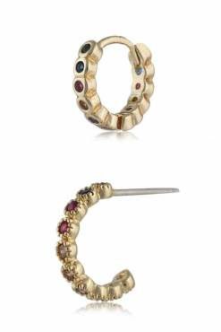 Big Metal London - Natalie Gem Encrusted Earring Set